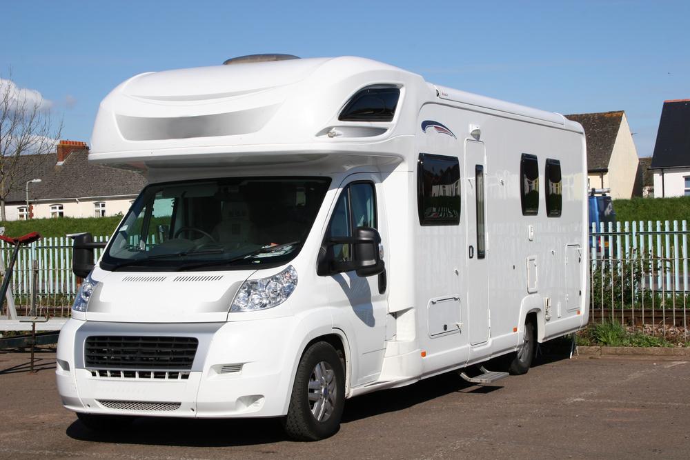 parked campervan