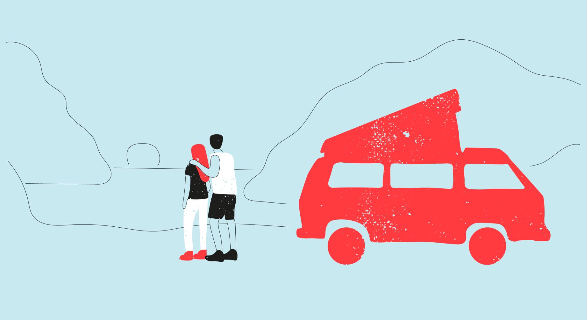 Illustration for best UK holidays