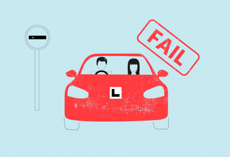 Illustration for driving test faults blog