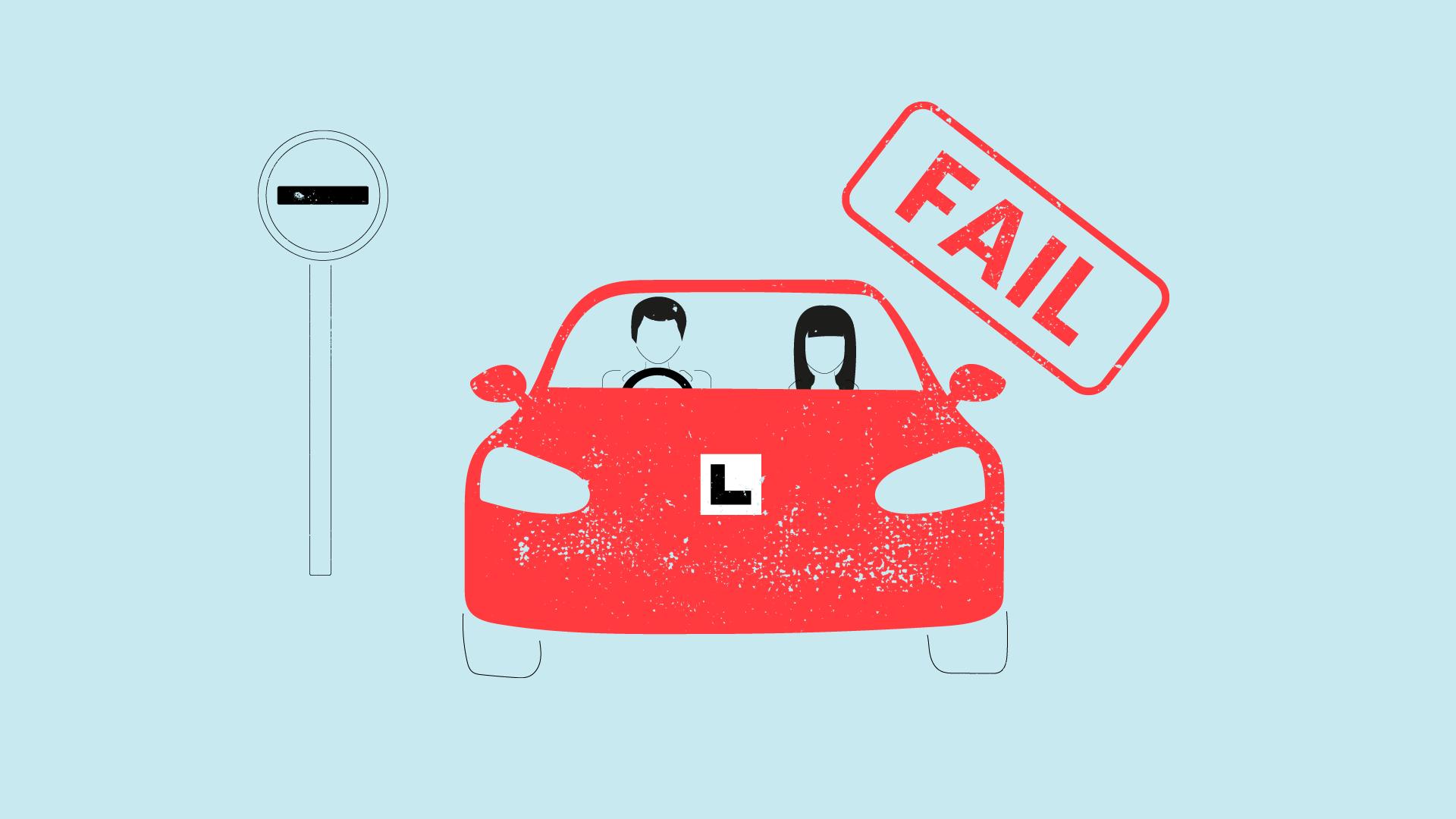Illustration for driving test faults blog