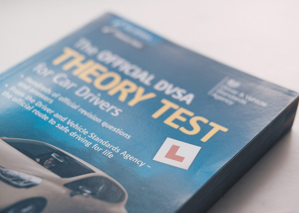 Theory test book from the DVSA