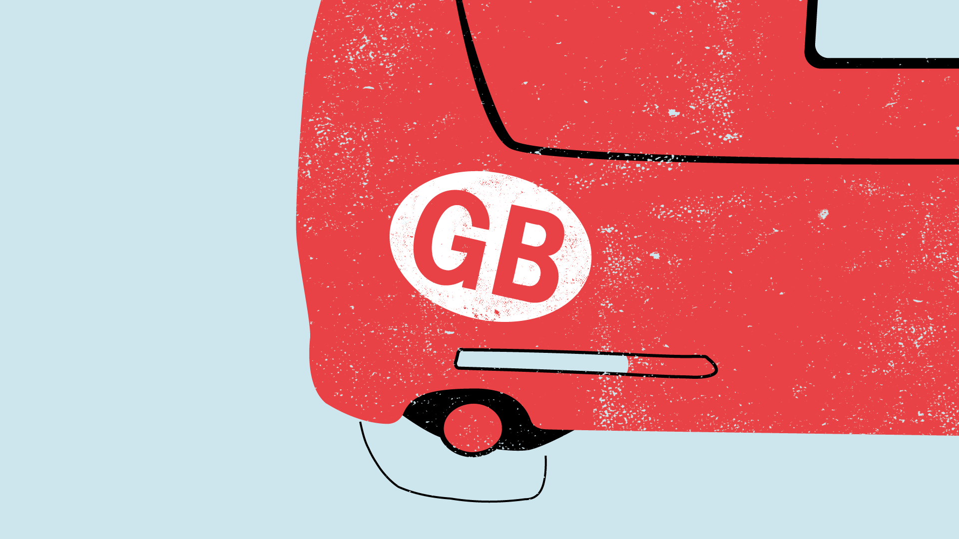 Illustration for blog on the government scrapping GB car stickers